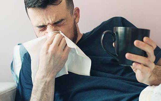 huisstofmijtallergie verkoudheid griep